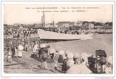 """Les Sables-d'Olonne - Sur les chantiers de construction - Le lancement de la  goélette """"La Créole"""""""