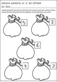 Atividades de matemática, numerais e quantidade