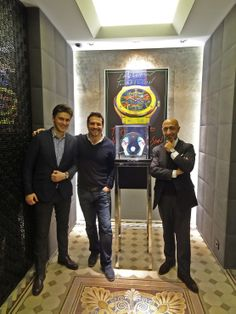 Fisnik and Yavuz welcome you at the Hublot boutique in Munich featuring the extraordinary Sphere display.