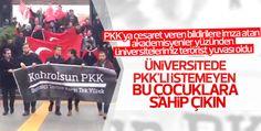 Boğaziçi Üniversitesi'nde kahrolsun PKK sloganları