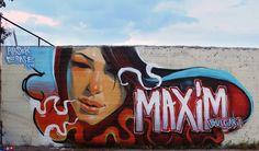 Some really impressive spray paint wall illustrations by Georgi Dimitrov - Erase, via Behance