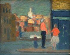 Roland Wakelin, Woolloomooloo street corner, 1952