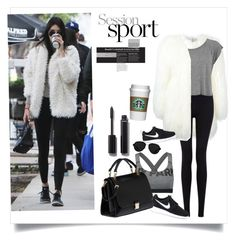 """Day Look 177 Kendall Jenner Sporty Spring Coat Street Style Fashion Outfit"" by fashion-by-katrine on Polyvore featuring Philipp Plein, Forever 21, Ivy Park, NIKE, Miu Miu, Chanel and 3.1 Phillip Lim"
