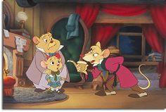 Dr. Dawson, Olivia, and Basil of Baker Street. I love the Great Mouse Detective!