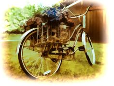 Flower Bike Painting Art Photograph Country by AmericanaArtByEllis, $20.00
