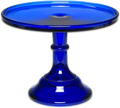 Depression glass cake plate by Mosser is 9 inches and available in cobalt blue, jadeite, milk glass, pink and ruby red. Milk glass cake stand makes a special presentation. Cobalt Glass, Cobalt Blue, Image Bleu, Milk Glass Cake Stand, Flint Glass, Cake Pedestal, Vintage Cake Stands, Glass Cakes, Blue Bottle
