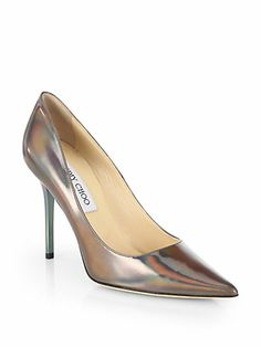 Jimmy Choo - Abel Patent Leather Disco Hologram Pumps - Saks.com