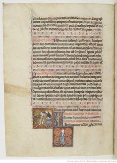 Mois de septembre - Martyrologe d'Usuard, Saint-Germain-des-Prés, v. 1266-1279 - Paris, BnF, lat. 12 834, fol. 69v