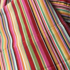 Pottery BarnTwin Sheet Set fitted and pillowcaseStripes in red, orange, yellow, pinkFabric and colors are great!Very good condition ** one small white paint spot at the end of the fitted sheet. Twin Sheet Sets, Orange Yellow, White Paints, Pottery Barn, Nook, 3 Piece, Portugal, Window, Stripes
