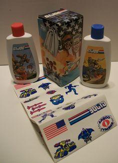 Vintage GI Joe Avon Gift Set w/ Tattoo Sheet, Shampoo and Body Wash- 1988 Avon/ Hasbro by TimsTimelessToys on Etsy