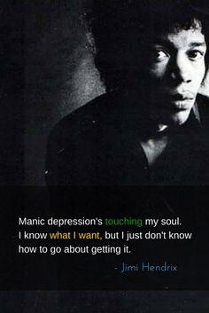 Manic depression's touching my soul. Jimi Hendrix Lyrics, Jimi Hendrix Quotes, Guitar Quotes, Music Quotes, Elevator Music, Jimi Hendrix Experience, Rock Legends, Jim Morrison, Blues