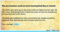 Inspiring feats - We are teachers and we were having Dad day at school.