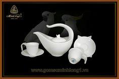 Bộ Trà Cao cấp - Gốm Sứ Minh Long 1: Bộ trà 0.45L Anh Vũ 01458000003
