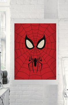 "Marvel Comic Store Superheroes Minimalist ""Spiderman"" Art Poster - Retro Style Home Decor Wall Art DC Universe on Etsy, $5.00"