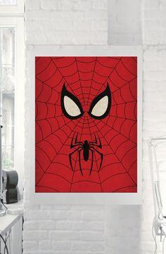 "Marvel Comic Store Superheroes Minimalist ""Spiderman"" Art Poster - Retro Style Home Decor Wall Art DC Universe on Etsy, $5.00"
