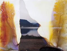 Dexter Lake, OR 4, 2010   From the series Lakes and Reservoirs   C-Print soaked in Dexter Lake water by Yossi Milo