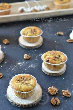 Muffins noci mela e cannella soffici e senza burro