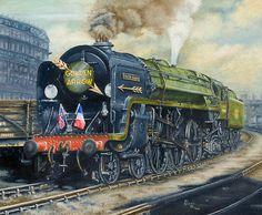 Iron Duke - Steam in Oils by Paul Lloyd, via Behance