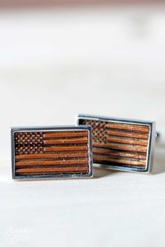Reclaimed Bourbon Barrel Cufflinks-Cufflinks-Bourbon & Boots