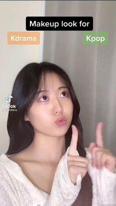Makeup Korean Style, Korean Eye Makeup, Makeup Looks Tutorial, Makeup Tutorial Videos, Kawaii Makeup Tutorial, Ulzzang Makeup Tutorial, Hijab Tutorial, Beauty Makeup, Hair Makeup