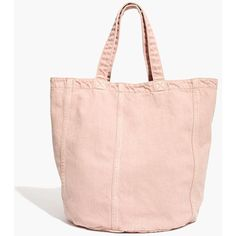Madewell x Where I Was From™ Denim Tote Bag ($45) ❤ liked on Polyvore featuring bags, handbags, tote bags, gentle blush, denim tote bag, tote handbags, vintage tote, pink purse and pink tote
