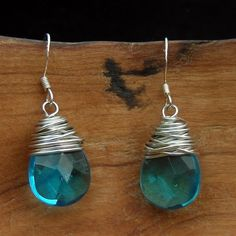 Blue Drop Earrings - buying these supports women in need of safety in exploited circumstances.