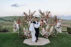 Seacliff House Gerringong Wedding - Gemaya + Tim - The Evoke Company Berry Wedding, Wedding Bells, Wedding Ceremony, Our Wedding, Wedding Ideas, Wedding Backdrop Design, Wedding Decorations, Peacock Wedding, Wedding Flowers