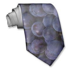 Blue wine grape custom tie for your sommelier boyfriend