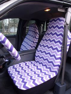 1 Set Of Seat Cover And Piece Steering Wheel By ChaiLinSews 6500 Purple