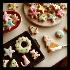 Dollhouse miniatures Frosted sugar cookie love. Made with polymer clay by me 1:12