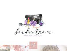 Fashion Logo, Makeup Artist Logo, Decor Logo, Boutique Logo, Photography Logo, Fashion Blog, floral Logo, Watercolor Logo, Watermark Logo