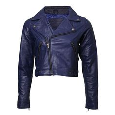 leather jacket women ❤ liked on Polyvore featuring outerwear, jackets, vintage leather jacket, leather jackets, 100 leather jacket, blue leather jacket and vintage jackets