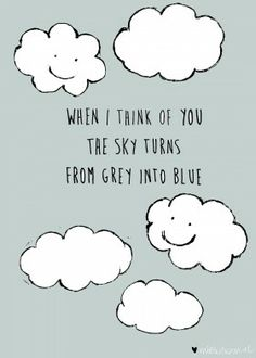 The sky turns from grey into blue