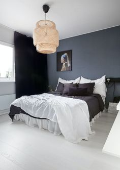 33 Epic Navy Blue Bedroom Design Ideas to Inspire You Blue Bedroom, Master Bedroom, Bedroom Decor, Sofa Design, Interior Design, Minimalist Bedroom, Modern Bedroom, Interiors Online, Home Design Plans