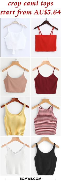 crop cami tops from AU$5.64