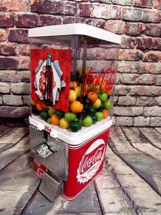 Coca cola 25 cent gumball machine candy/ nuts machine M&m dispenser man cave bar #vintageKomet