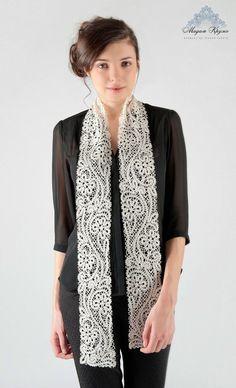 Châle de dentelle russe dentelle foulard en soie par MadamKruje