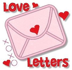 Love Letters Applique - 2 Sizes! | Words and Phrases | Machine Embroidery Designs | SWAKembroidery.com Lynnie Pinnie