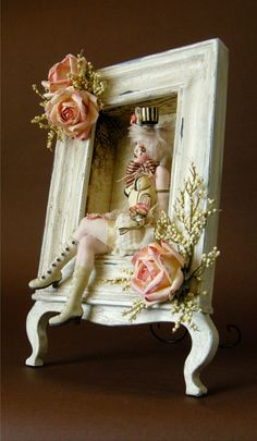 Fun idea for diplaying my dolls! GYPSY ROSE - A Victorian shabby chic style Burlesque girl ooak by Nicole West | eBay