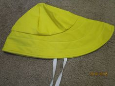 DUTCH HARBOR GEAR YELLOW SIZE LARGE SOUWESTER RAIN HAT BRIGHT YELLOW FISHING HAT #DUTCHHARBORGEAR