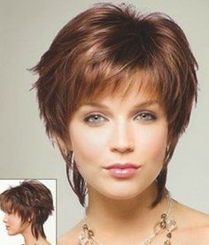 """Cute Layerd Cut Short Layered Pixie This is definitely a longer version of the traditional pixie look that we are so used to, but it does really look beautiful. Description from pinterest.com. I searched for this on bing.com/images [ """"short hair styles for women Cute Layered Cut One of the first things that you can notice at this type of haircut is the fact that you will be able to enjoy a lot of volume."""", """"short hair styles for women by naememac.hmmmmm do i go short again?"""", """"Super Cut..."""