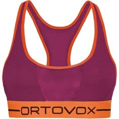 Ortovox 185 Merino Rock'N'Wool Sports Bra - Women'sDark Very Berry