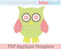 Owl Applique Template PDF