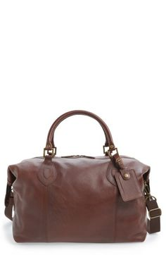 6869411f05 BARBOUR LEATHER TRAVEL BAG - BROWN.  barbour  bags  leather