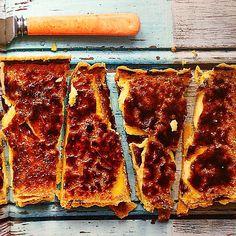 Crème Brûlée 'crack' tart by @meringuegirls #everythingsweet ... Diet starts tomorrow then