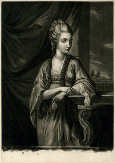 Madame du Barry, 1770 mezzotint after Benjamin Wilson