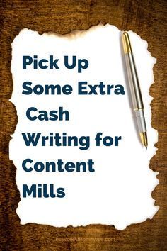 As a freelance writer, your job is to write content for other people or companies. Generally, someone requests a certain article, you agree to write the article, you write it, and then you are paid. The pay rate can be low at first, but the payout is quick, and if you have any writing ability, it won't be long until you are bringing in more and more.
