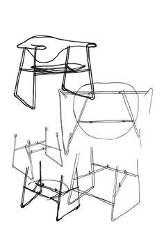 Masculo Chair by GamFratesi // Gubi http://decdesignecasa.blogspot.it