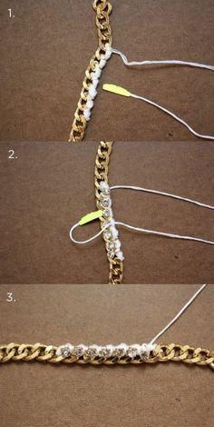 Pulsera, encuentra más ideas para crear tus propios accesorios aquí..http://www.1001consejos.com/diy-accesorios/