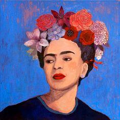 Frida Kahlo Print / BURN IT BLUE / A4 / A3 by MartynaZoltaszek